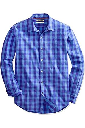 Goodthreads Regular-Fit Long-Sleeve Large-Scale Check Shirt Camicia, , X