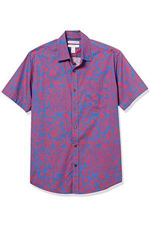 Amazon Short-Sleeve Regular-Fit Casual Poplin Shirt Athletic-Shirts, / Grande Floreale, US L