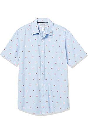 Amazon Short-Sleeve Regular-Fit Casual Poplin Shirt Button-Down-Shirts, Granchio, US S