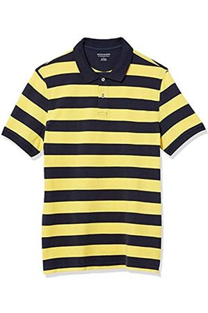 Amazon Polo Aderente in Cotone piqué Shirts, Strisce di Rugby / Navy, US