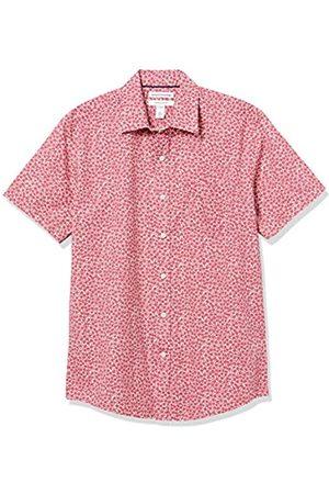 Amazon Short-Sleeve Regular-Fit Casual Poplin Shirt Button-Down-Shirts, Rosette Rosse lavate, US M