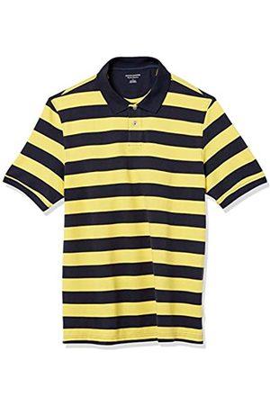Amazon Polo in Cotone piqué di Taglio Regolare. Athletic-Shirts, Strisce di Rugby / Navy, US