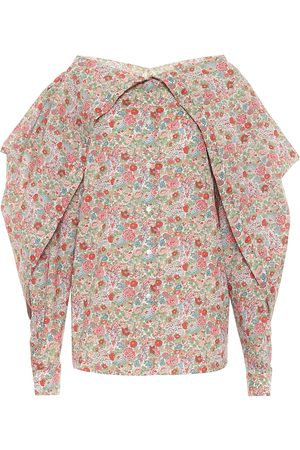 Y / PROJECT Blusa a stampa floreale in cotone