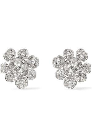 ANNOUSHKA Orecchini in 18kt con diamanti Marguerite - 18ct White Gold