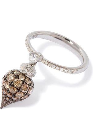 ANNOUSHKA Anello in 18kt Touch Wood con diamanti - 18ct White Gold