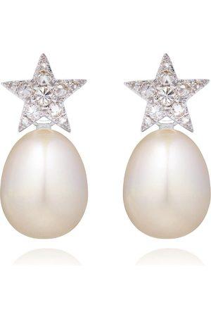 ANNOUSHKA Orecchini in 18kt con diamanti e perle - 18ct White Gold