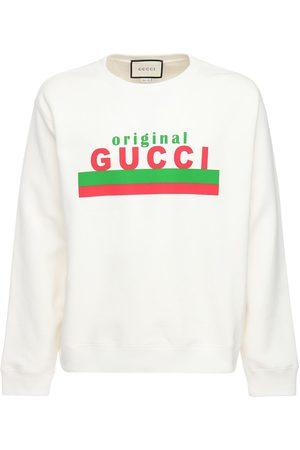 Gucci Felpa In Cotone Con Stampa Original