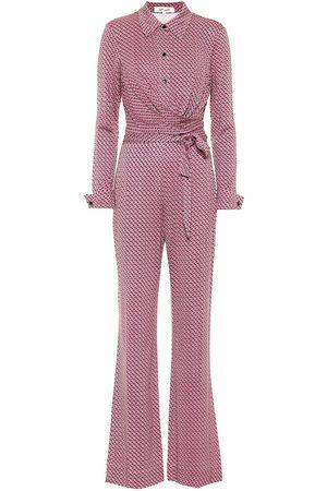 Diane von Furstenberg Jumpsuit Michele a stampa in seta