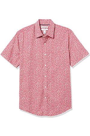 Amazon Short-Sleeve Slim-Fit Casual Poplin Shirt Button-Down-Shirts, Rosette Rosse lavate, US