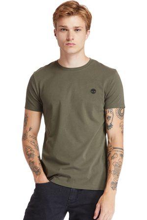 Timberland T-shirt Girocollo Da Uomo Dunstan River In Scuro Scuro
