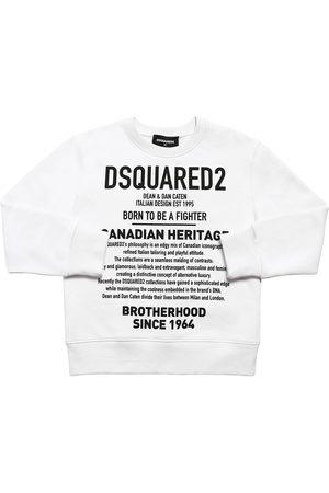 """Dsquared2 Felpa """"heritage"""" In Cotone Con Stampa"""