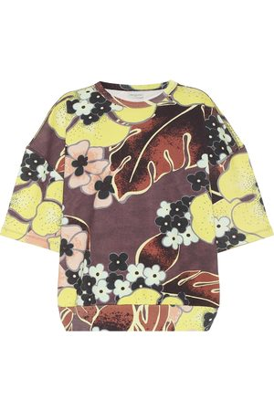 DRIES VAN NOTEN T-shirt a stampa floreale in cotone