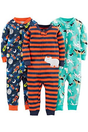 Simple Joys by Carter's 3-Pack Snug Fit Footless Cotton Pajamas Pajama Set, Dogs/Space/Rhino, 5T