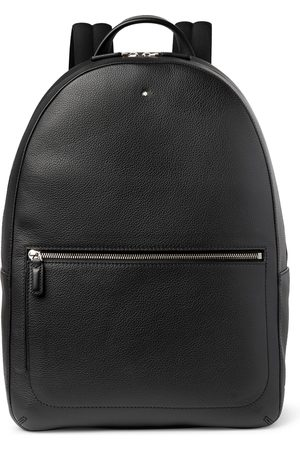 Mont Blanc Full-Grain Leather Backpack
