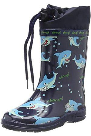 Beck Sharks, Stivali di Gomma Bambino, Blu , 34 EU
