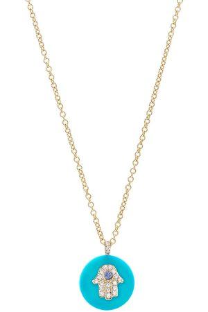 "Noush Donna Collane - ""Collana con pendente in 14kt, turchese e diamanti"""