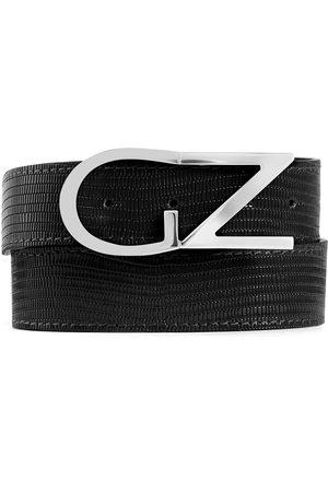 Giuseppe Zanotti Uomo Cinture - Cintura con effetto coccodrillo