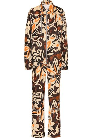 DRIES VAN NOTEN Jumpsuit a stampa floreale in cotone