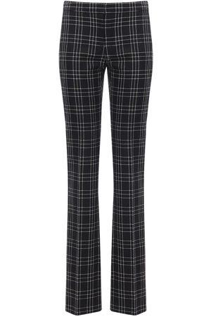Alexander McQueen Pantaloni In Lana Check