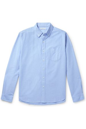ALEX MILL Uomo Casual - Button-Down Collar Overdyed Cotton Oxford Shirt