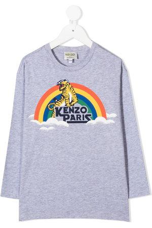 Kenzo T-shirt a maniche lunghe Tiger