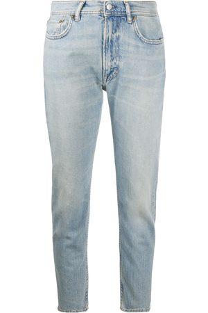 Acne Studios Donna Slim & Sigaretta - Jeans slim crop