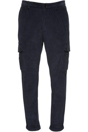 Dolce & Gabbana Pantaloni Cargo In Velluto Di Cotone 17cm
