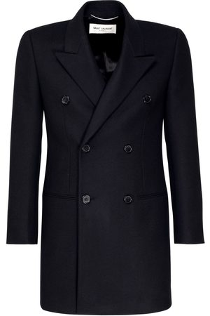 Saint Laurent Cappotto Doppiopetto In Lana E Cashmere
