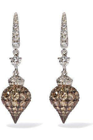 ANNOUSHKA Orecchini in 18kt Touch Wood con diamanti - 18ct White Gold