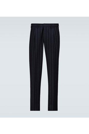 THE GIGI Pantaloni Tonga+Z gessati in misto lana