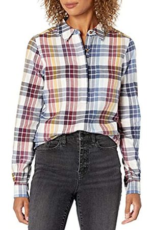 Goodthreads Brushed Flannel Popover Shirt Button-Down-Shirts, Multi-Color Plaid, US XL