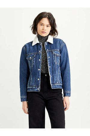 Levi's Donna Ex Boyfriend Sherpa Trucker Indigo / Rough And Tumble