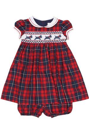 Rachel Riley Baby - Abito a quadri in cotone con culottes
