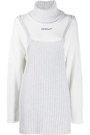 OFF-WHITE Vestito corto stile maglione - Di colore