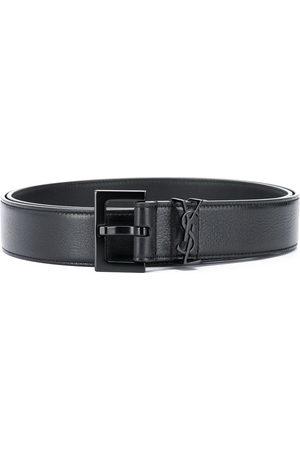 Saint Laurent Cintura con fibbia monogramma