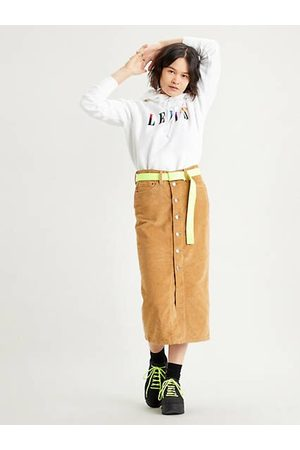 Levi's Button Front Midi Skirt / Iced Coffee