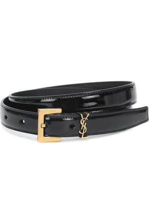 Saint Laurent Donna Cinture - Cintura Monogram in vernice