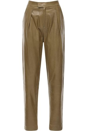 Zeynep Arcay Pantaloni In Pelle Con Pinces