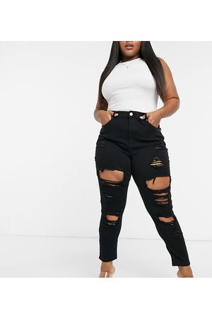 Yours Jeans super strappati skinny neri