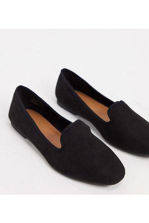 ASOS Lakeside - Ballerine a pantofola a pianta larga nere