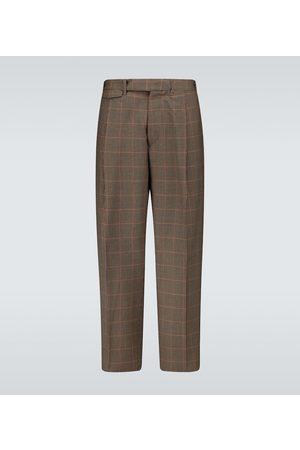 Rochas Pantaloni a quadri in lana vergine