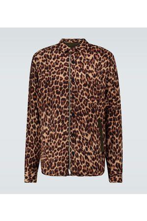 SACAI Camicia Leopard Shrivel in lana