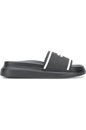 Alexander McQueen Slides oversize - 1006 - BLACK