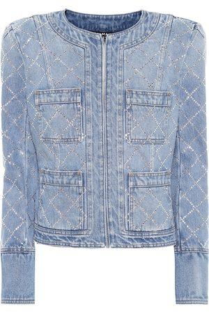 Balmain Giacca di jeans con cristalli