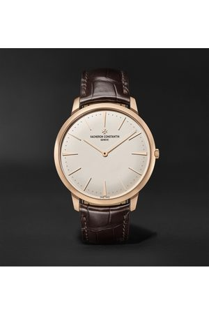 Vacheron Constantin Patrimony Hand-Wound 40mm 18-Karat Pink Gold and Alligator Watch, Ref. No. 81180/000R-9159