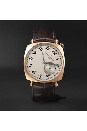 Vacheron Constantin Historiques American 1921 Hand-Wound 40mm 18-Karat Pink Gold and Alligator Watch, Ref. No. 82035/000R-9359