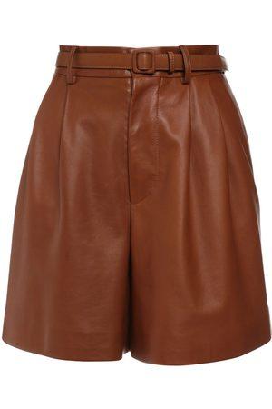 Ralph Lauren Shorts Vita Alta In Pelle