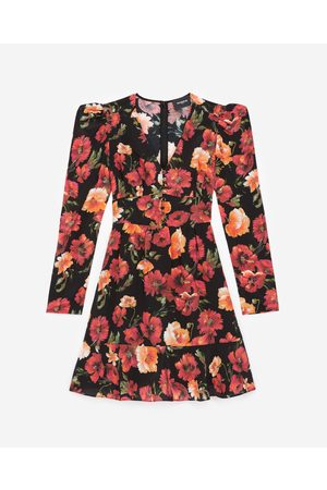 The Kooples Short floral printed silk dress