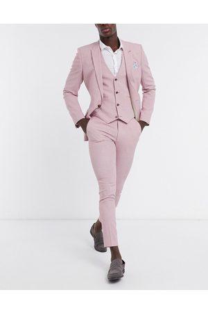 ASOS Wedding - Pantaloni da abito super skinny con tratteggio incrociato