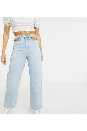 Weekday Lasso - Mom jeans con cut-out turchesi